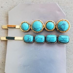 Accessories - Turquoise Bobby Pins
